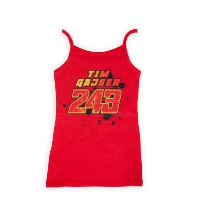 Majica z naramnicami ženska - rdeča